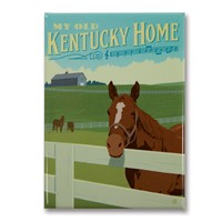 My Old Kentucky Home Horse Metal Magnet