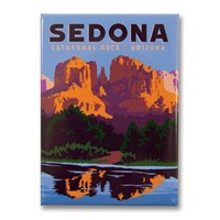 Sedona Cathedral Rock Metal Magnet