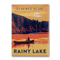 Rainy Lake Canoe Metal Magnet