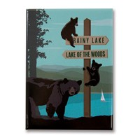 Rainy Lake / Lake of the Woods Metal Magnet