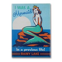 Rainy Lake Mermaid Queen Metal Magnet