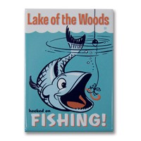 Lake of the Woods Hooked Metal Magnet