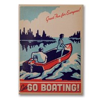 Let's Go Boating! Metal Magnet
