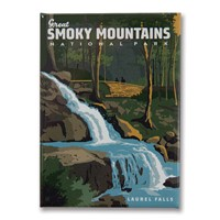 Great Smoky Laurel Falls Metal Magnet