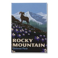 Rocky Mountain Majestic Metal Magnet