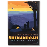 Shenandoah Back Country Camping Metal Magnet