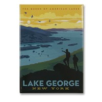 Lake George, NY Metal Magnet