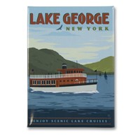 Lake George Boats Metal Magnet