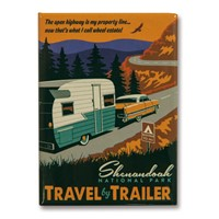 Shenandoah Travel by Trailer Metal Magnet