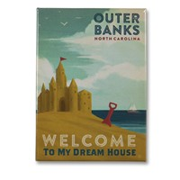 Outer Banks My Dream House Metal Magnet