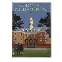 Colonial Williamsburg Capitol Metal Magnet
