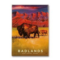 Badlands NP Living the Good Life Metal Magnet