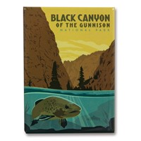 Black Canyon Metal Magnet