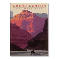 Grand Canyon Kayak Metal Magnet