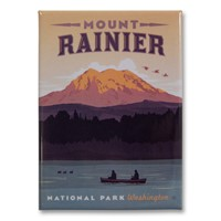 Mount Rainier Metal Magnet