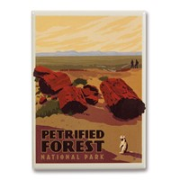 Petrified Forest Metal Magnet