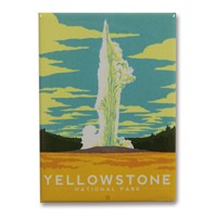 Yellowstone Old Faithful Metal Magnet