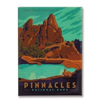 Pinnacles Metal Magnet