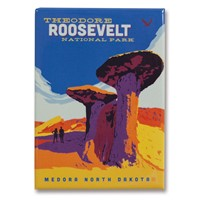 Theodore Roosevelt Metal Magnet
