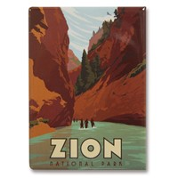 Zion Narrows Metal Magnet