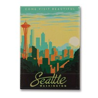 Seattle Skyline Metal Magnet