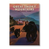 Great Smoky Bear Jam Metal Magnet