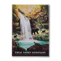 Great Smoky Grotto Falls Metal Magnet