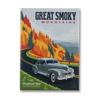 Great Smoky HWY 441 Fall Metal Magnet