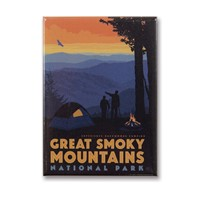 Great Smoky Back Country Camping Metal Magnet