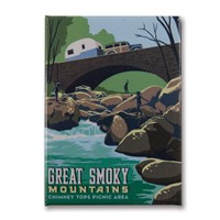 Great Smoky Rock Hopping Metal Magnet
