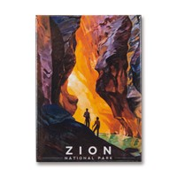 Zion Virgin River Narrows Metal Magnet