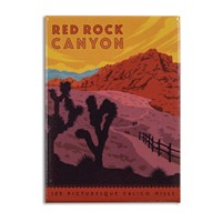 Red Rock Canyon Metal Magnet