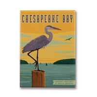 Chesapeake Bay Metal Magnet