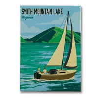 Smith Mountain Lake, VA Metal Magnet