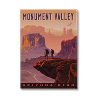 Monument Valley AZ/UT Metal Magnet