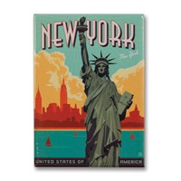 NYC Lady Liberty Metal Magnet