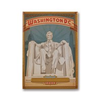 Washington, DC Metal Magnet