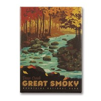 Great Smoky Deep Creek Metal Magnet