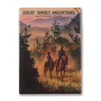 Great Smoky Horesback Riding Metal Magnet