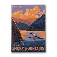 Great Smoky Fontana Lake Metal Magnet