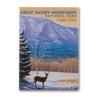 Great Smoky Cades Cove Metal Magnet