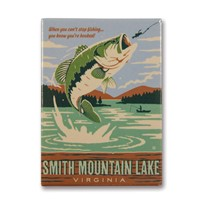 Smith Mountain Lake Gone Fishing Metal Magnet