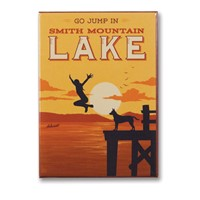 Smith Mountain Lake Go Jump In A Lake! Metal Magnet\