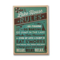 Smith Mountain Lake Lake House Rules Metal Magnet
