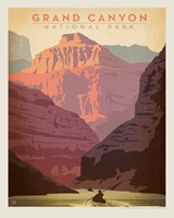 "Grand Canyon - Kayak 8"" x10"" Print"