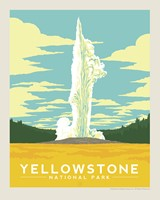 "Yellowstone Old Faithful 8"" x10"" Print"