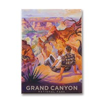 Grand Canyon Vista Metal Magnet