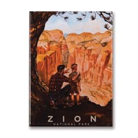 Zion View Metal Magnet