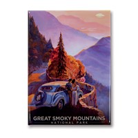 Great Smoky Sunset Metal Magnet