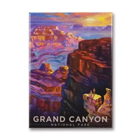 Grand Canyon Sunset Metal Magnet